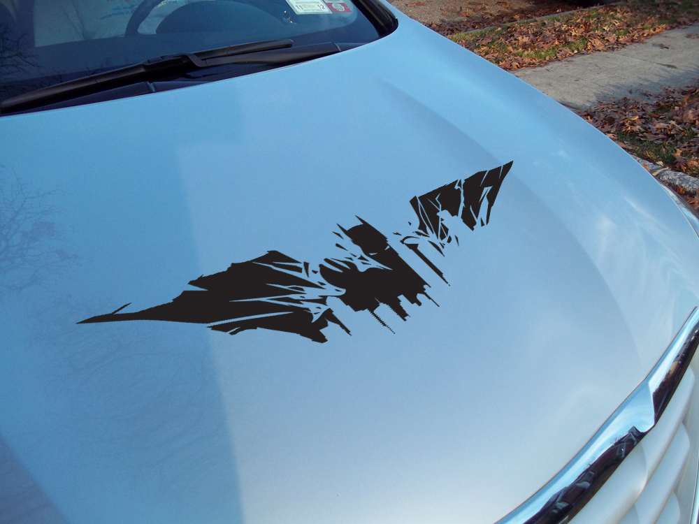 Dark Bruce Wayne Gotham City Landscape Shadow Superhero Car Vinyl Sticker Decal