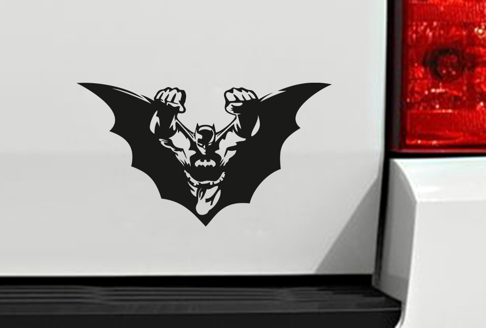 Dark Bruce Wayne Wings Flying Comic Gotham Shadow Superhero Decal Car Truck Hood Vinyl Sticker