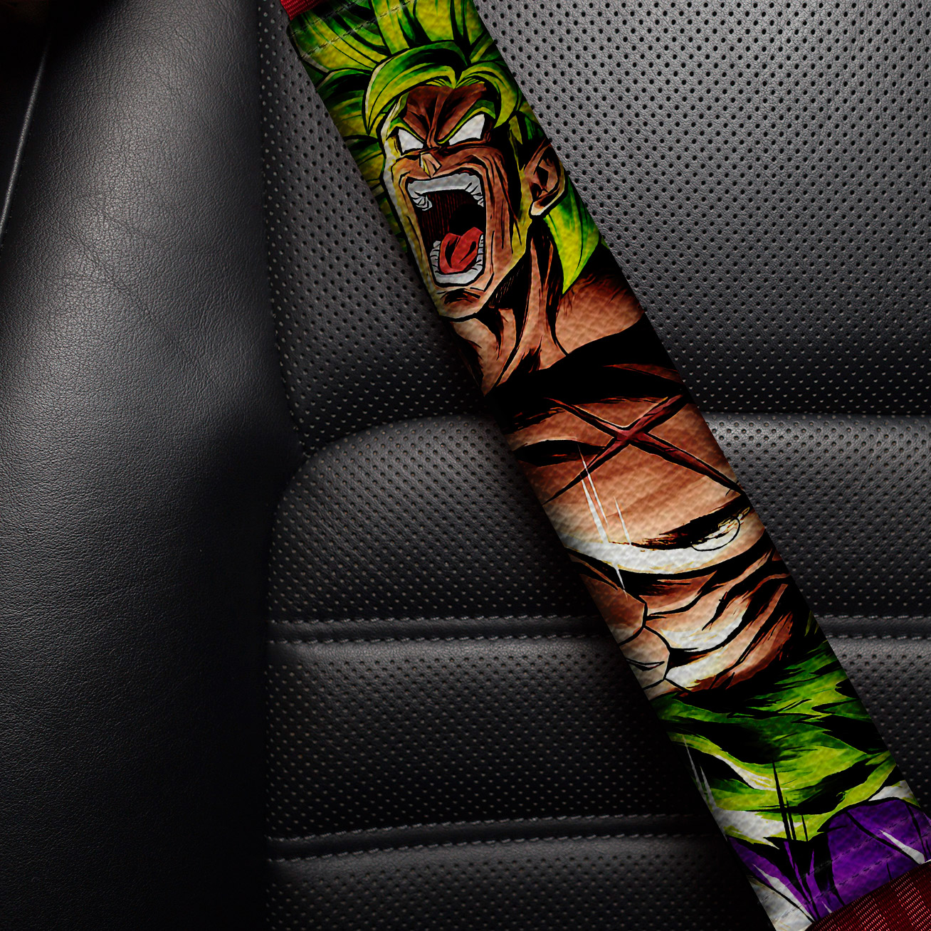 Broly Triple Dragon Z Super ドラゴンボール DBZ JDM Anime Manga Eco Leather Printed Car Seat Belt Cover