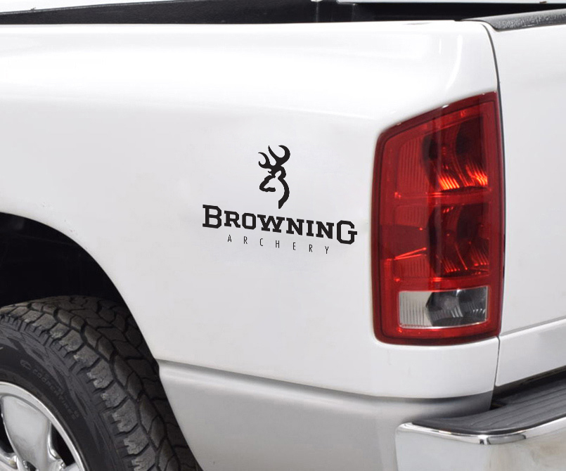 Browning Logo Archery Deer Bow Arrow Hunter Hunting Truck Vinyl Sticker Decal