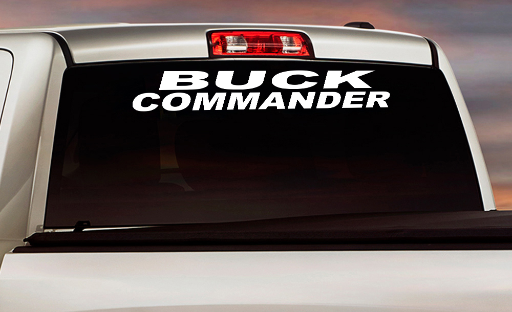 Buck Commander Windshield Banner Strip Deer Bow Arrow Hunter Hunting Life Truck Vinyl Sticker Decal