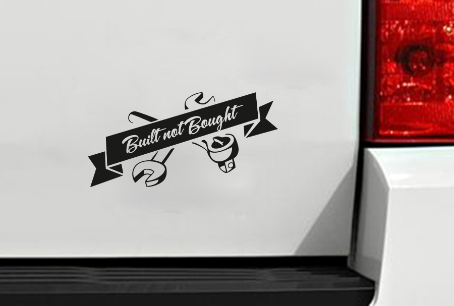 Built Not Bought Slammed Stance Lowered JDM Performance Low Vinyl Sticker Decal