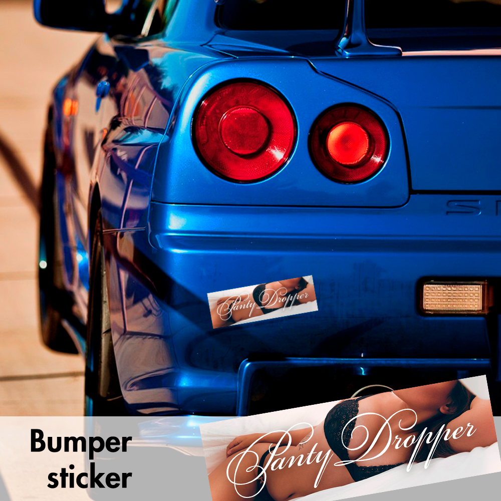 Panty Dropper Sexy Bumper Printed Sticker Box Slap JDM Stance Event Show Low Car Vinyl Decal