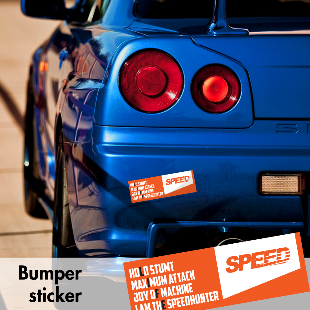 Speedhunters life maximum attack v9 bumper printed sticker box slap window jdm stance event show low car vinyl decal