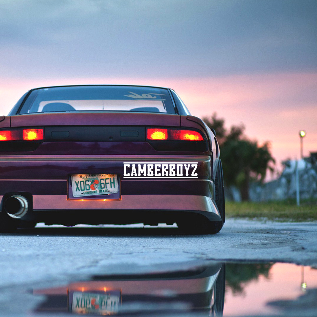 Camberboyz Banner Static Lowered Stance Low Slammed  JDM Racing Turbo Car Vinyl Sticker Decal