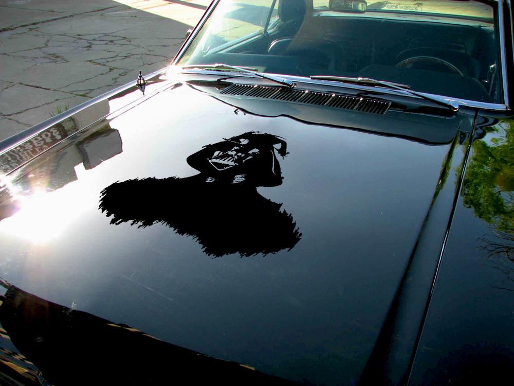 Hood darth vader v2 force bad evil luke skywalker star wars car vinyl sticker decal