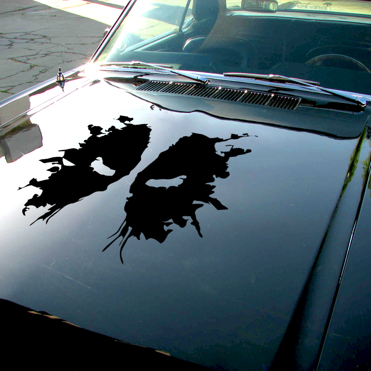 Wade Wilson Shadow Splash Eyes Hood Bad Badass Superhero Comic Car Vinyl Sticker Decal