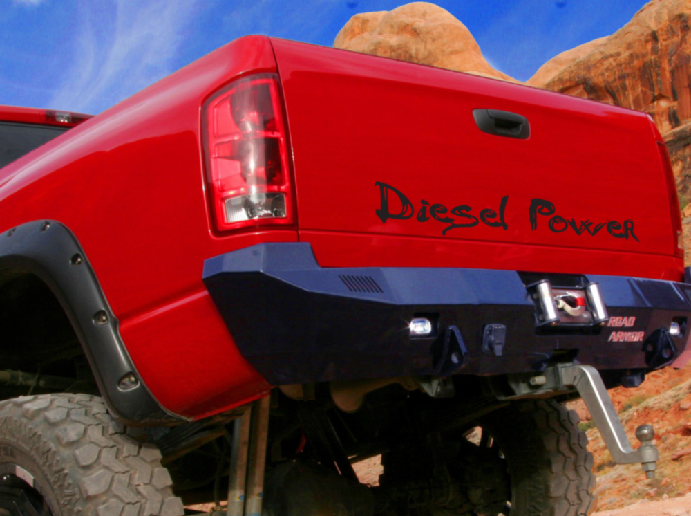 Window Body Banner Diesel Power Dirty SUV Truck 4x4 Off-Road Neck Vinyl Decal
