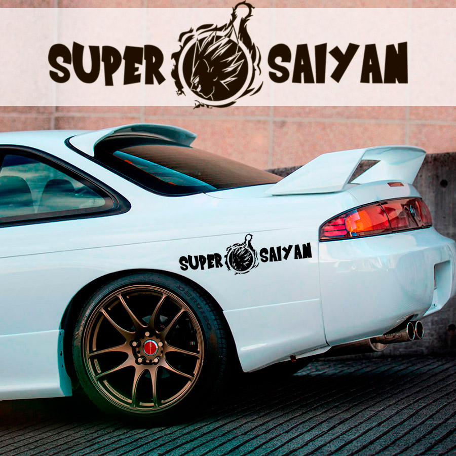 2x Dragon Super Saiyan God Goku Blue Z GT Super Anime Manga Car Vinyl Sticker Decal