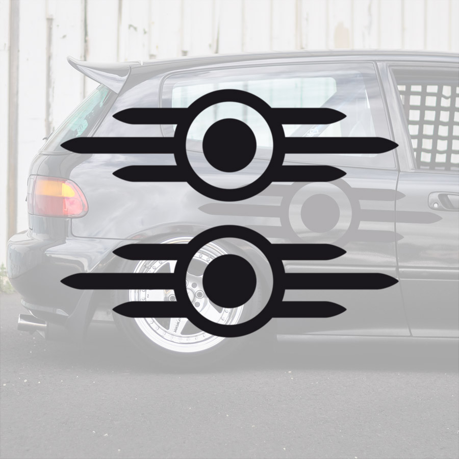 2x Pair Vault-Tec Logo v2 Tested and Approved Future Fallout Game Post Apocalyptic Car Side  Hood Vinyl Sticker Decal