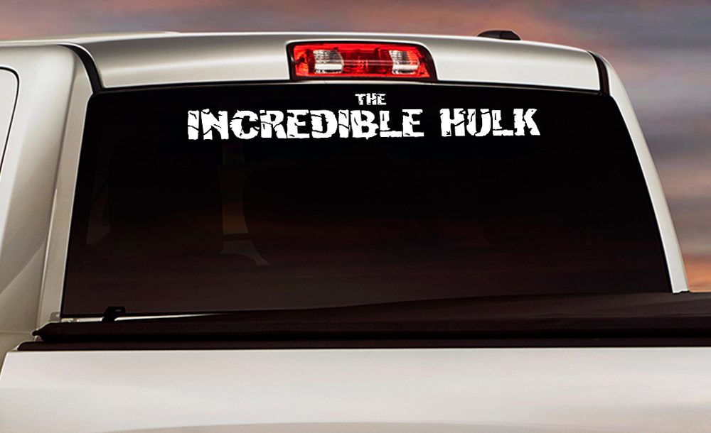 Windshield the Incredible Hulk Racing Strength Angry Power Superhero Comics Marvel Vinyl Sticker Decal