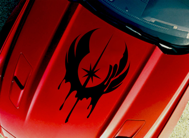 Hood Jedi Order Logo Blood Skywalker Star Wars Force Car Vinyl Sticker Decal