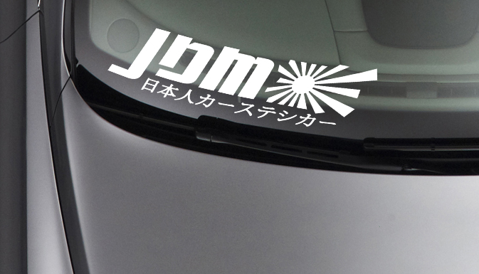Kanji v2 Rising Sun Japan Performance Fun JDM Car Windshield Vinyl Sticker Decal