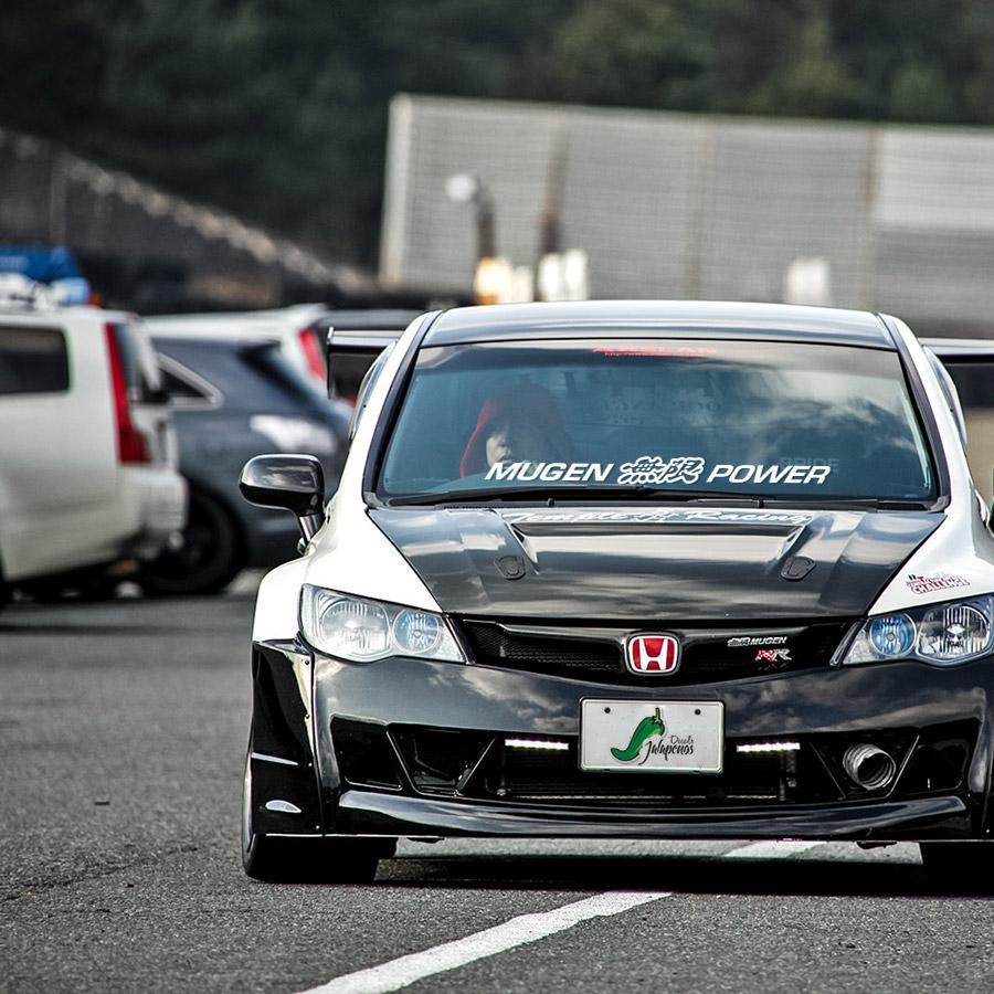 VTEC inside Custom Car Bumper Window Stickers Decals JDM Honda Civic Type R
