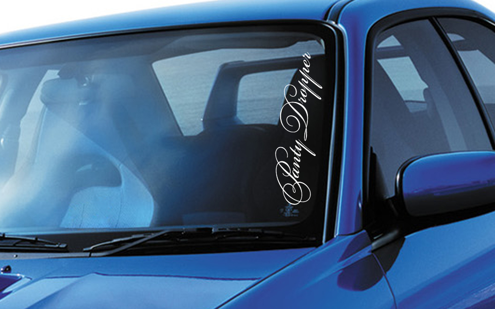Panty Dropper Royal VIP Fun JDM Stance Japan Car Windshield Vinyl Sticker Decal