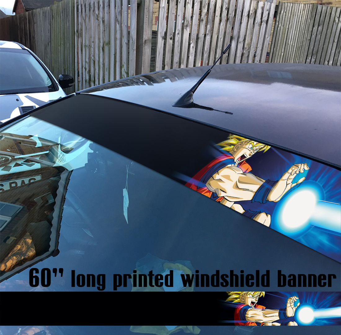 60 dragon ball v1 ドラゴンボール z gt super manga anime goku sun strip printed windshield car vinyl sticker decal