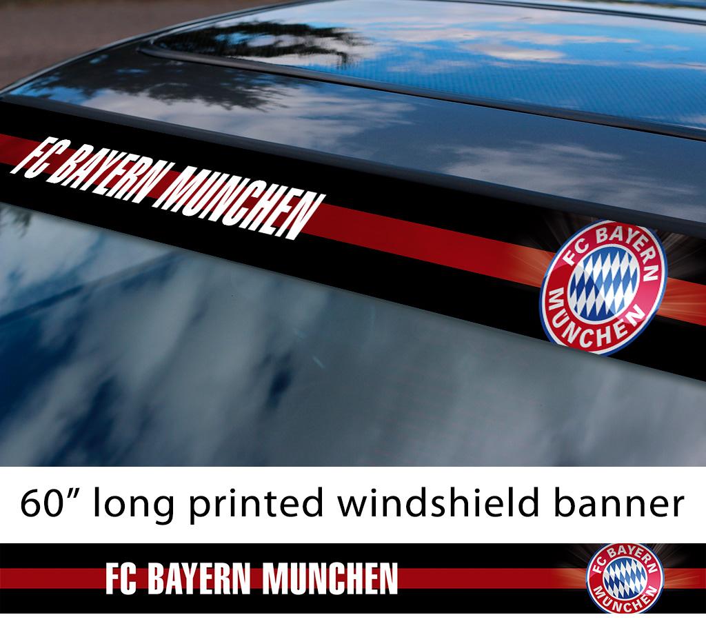 Buy 60 Bayern Munich Fc Logo Bundesliga Football Sun Strip