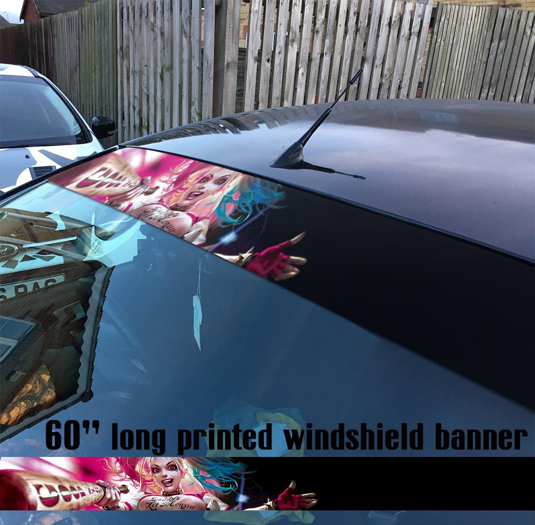 60 harley quinn good night sexy suicide squad sun strip printed windshield car vinyl sticker decal