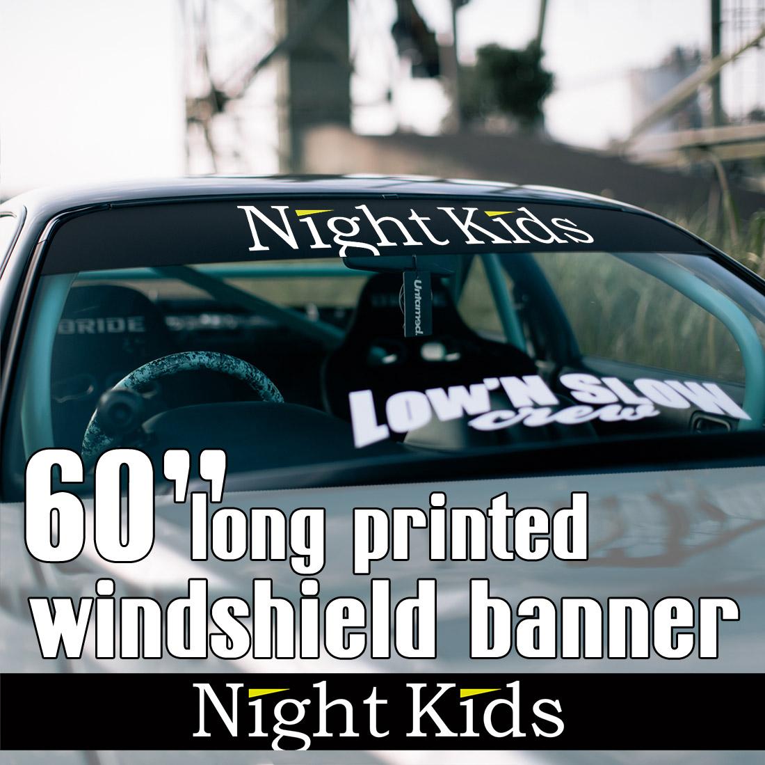 60 myogi night kids team v1 initial d nissan skyline gt r honda civic sir jdm anime manga racing sun strip printed windshield car vinyl sticker decal