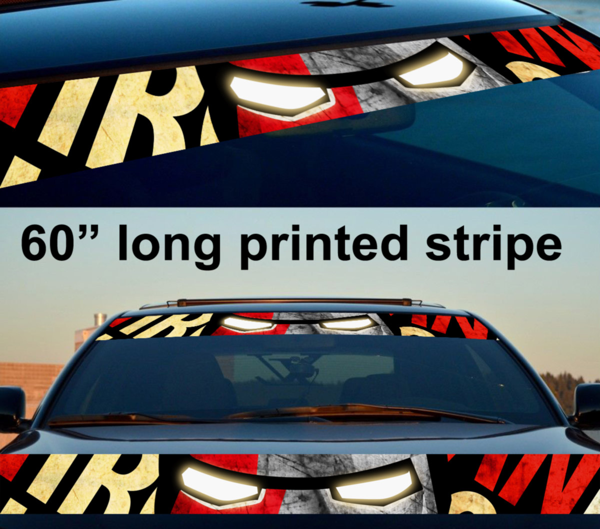 60 iron man sun strip printed windshield graphics car truck vinyl sticker decal