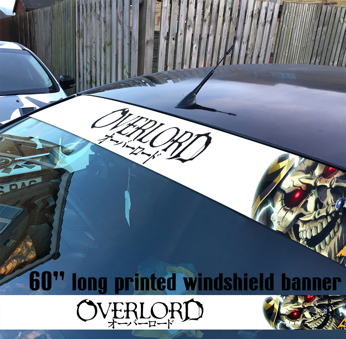 "60"" Overlord オーバーロード V3 Great Tomb of Nazarick Ainz Ooal Gown Albedo Shalltear Bloodfallen Sun Strip Printed Windshield Car Vinyl Sticker Decal"