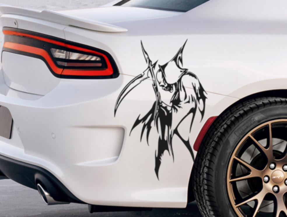 Buy Pair Side Grim Reaper Skull Awesome Tribal Decal Car