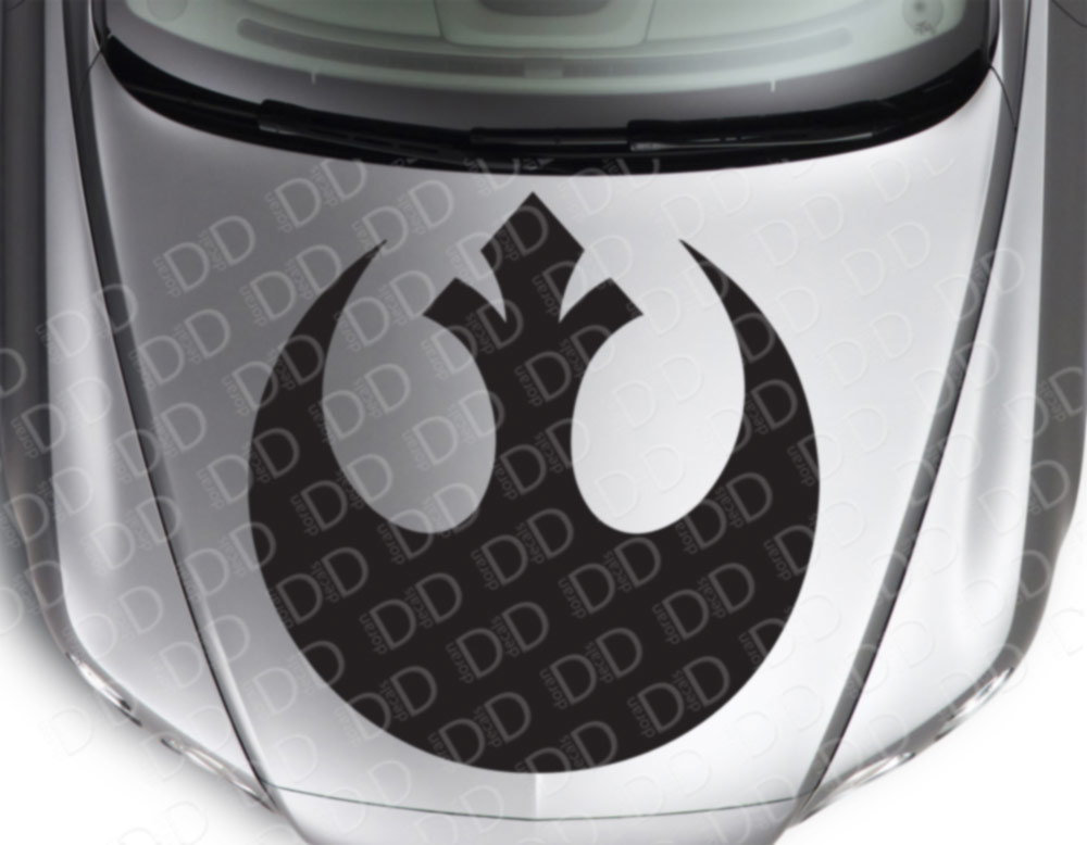 Hood Rebel Alliance  Skywalker Jedi Force Car Vinyl Sticker Decal