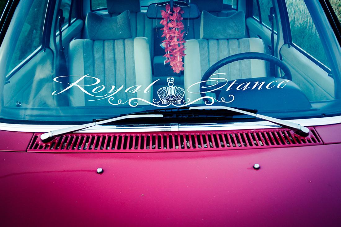 Royal stance flush strip jdm drift turbo daily car windshield vinyl sticker decal
