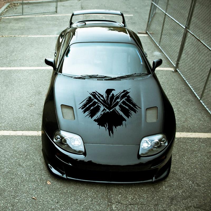 S h i e l d hood v2 logo agents of shield eagle hail hydra comics avengers car vinyl sticker decal