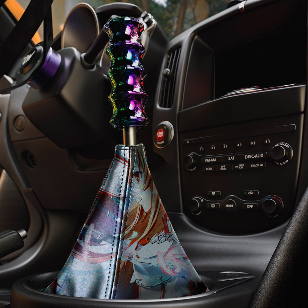 Sword Art Online Yūki Asuna v2 Sexy Hot Girl Boobs Ass Anime Manga  Eco Leather Printed Car Shift Boot