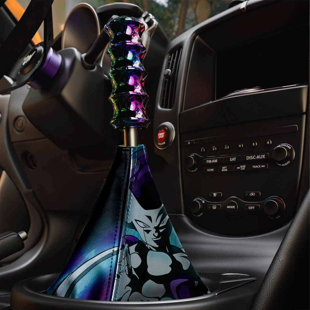 Frieza v1 Emperor Universe 7 Goku Saiyan Dragon Z Super DBZ Manga Anime Eco Leather Printed Car Shift Boot