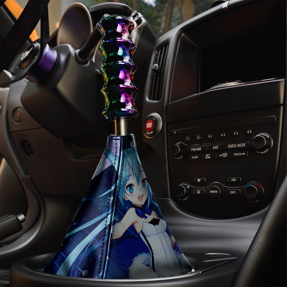Hatsune Miku   初音ミク 01 Vocaloid Anime Girl Manga Sexy Hot Eco Leather Printed Car Shift Boot