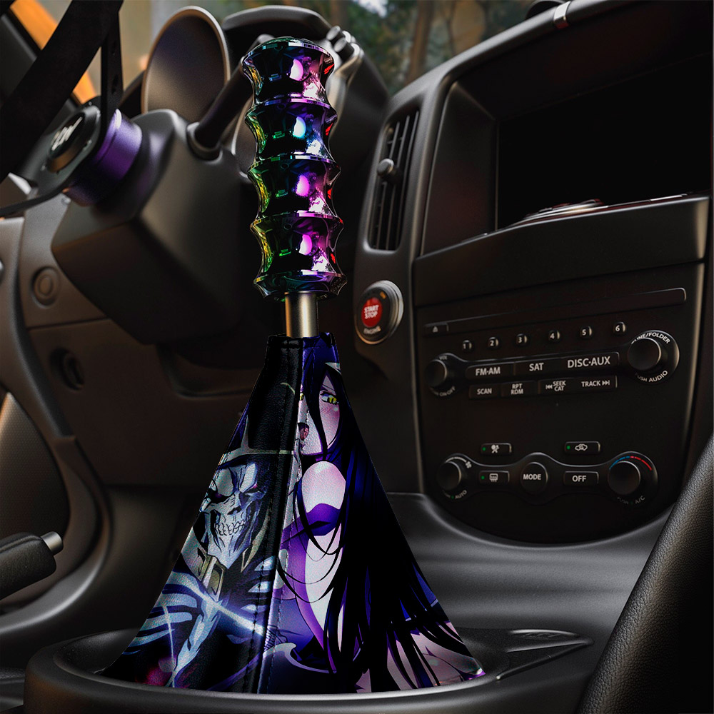 Overlord V1 オーバーロード Great Tomb of Nazarick Ainz Ooal Gown Albedo Shalltear Bloodfallen Eco Leather Printed Car Shift Boot