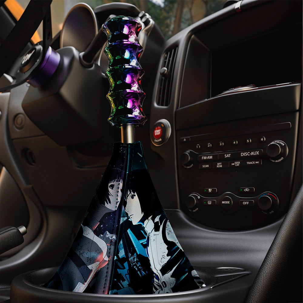 Sidonia no Kishi v1 Knights Nagate Tanikaze Shizuka Hoshijiro Tsumugi Shiraui Gauna Shiratsuki Anime Manga Eco Leather Printed Car Shift Boot