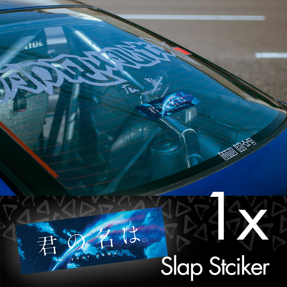 Your Name V3 Kimi no Na wa Mitsuha Miyamizu Taki Tachibana Comet Anime Manga JDM Printed Box Slap Bumper Car Vinyl Sticker