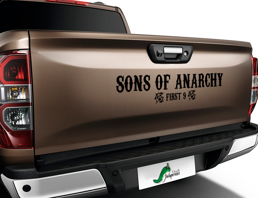 Sons of Anarchy First 9 SOA TV Show Reaper Outlaw Club  Jax Teller Charming  Car Vinyl Sticker Decal