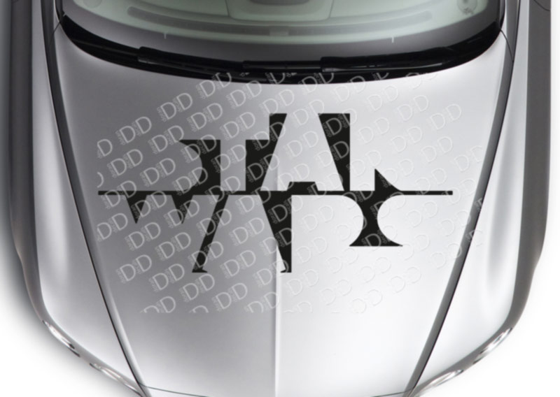 Hood Logo Star Wars Shadow Skywalker Darth Vader Force Car Vinyl Sticker Decal