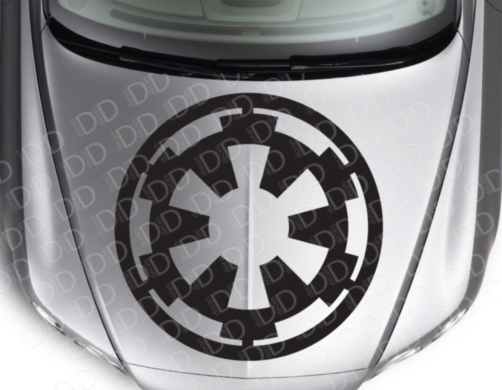 "2x Pair 18""x18"" Galactic Empire Logo Star Wars Darth Dark Force Car Vinyl Sticker Decal"