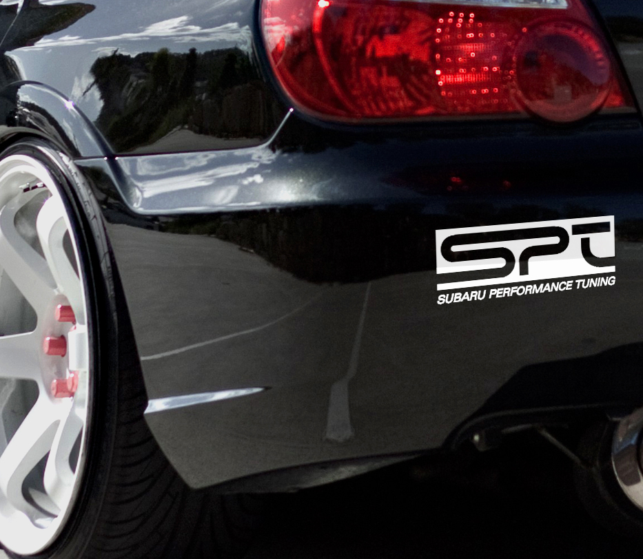 2x SPT Logo Subaru Performance Tuning Racing Japan JDM Car Vinyl Sticker Decal