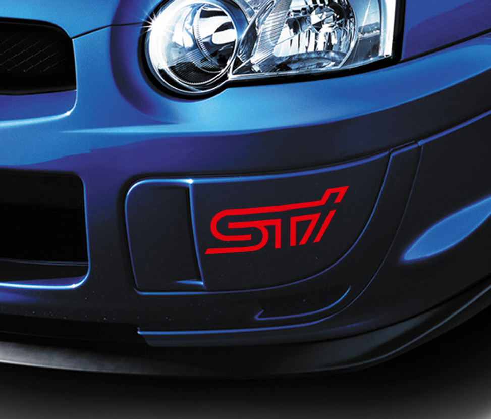 2x STI   Tecnica International Racing Japan JDM Car Vinyl Sticker Decal #Subaru