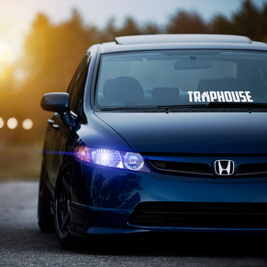 Traphouse Event Royal Racing Tuning Lifestyle Stance Banner Strip JDM Low Vinyl Decal