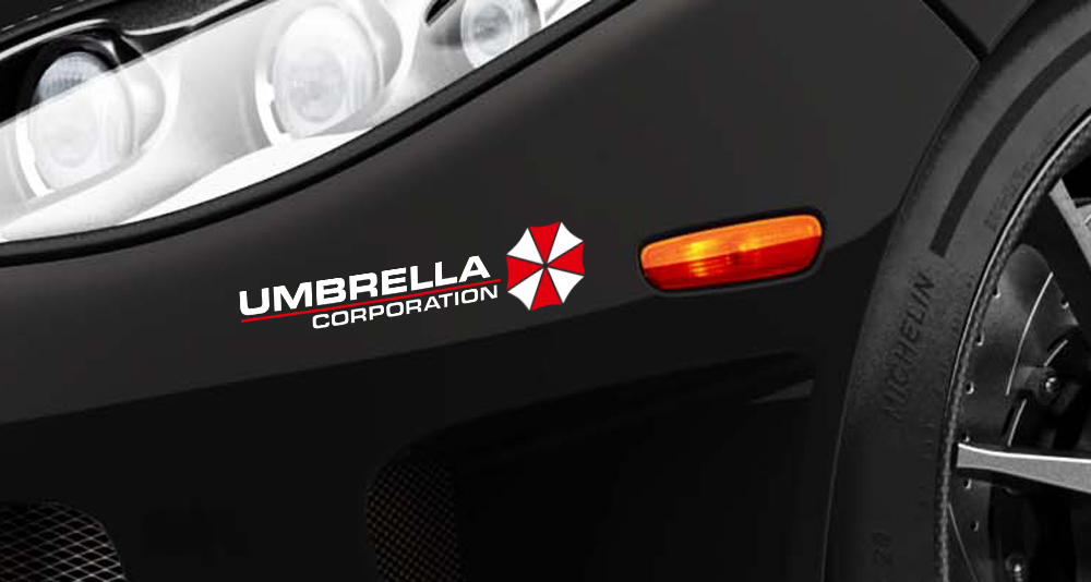 2x Umbrella Corporation Resident Evil Game Zombie Car Body Laptop Decal Sticker