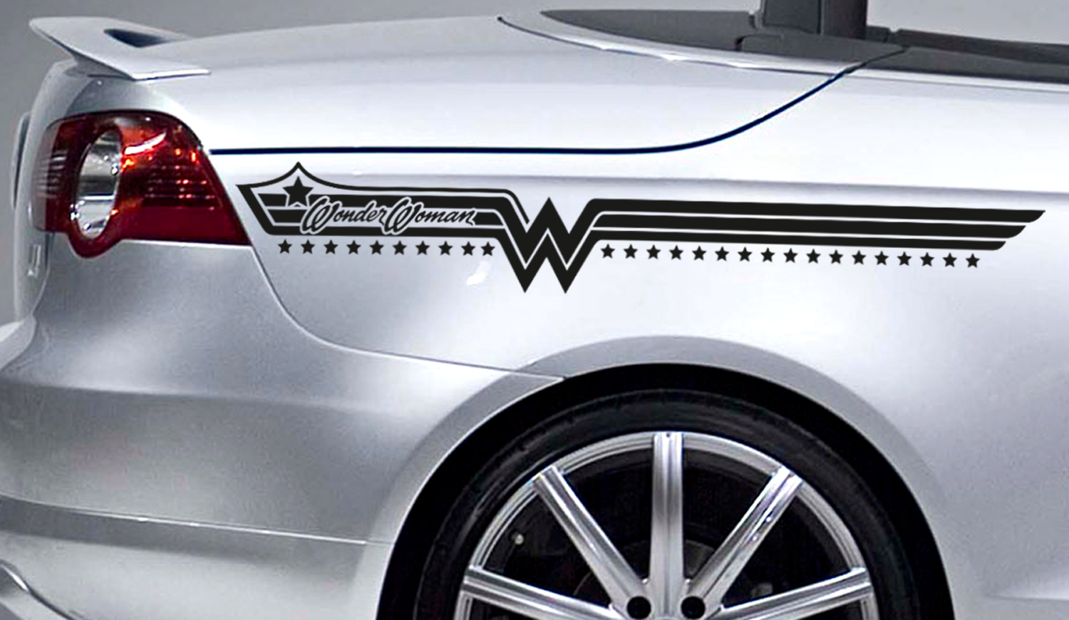 2x Diana Prince Stripes Superhero Justice Comics Girl Car Vinyl Sticker Decal