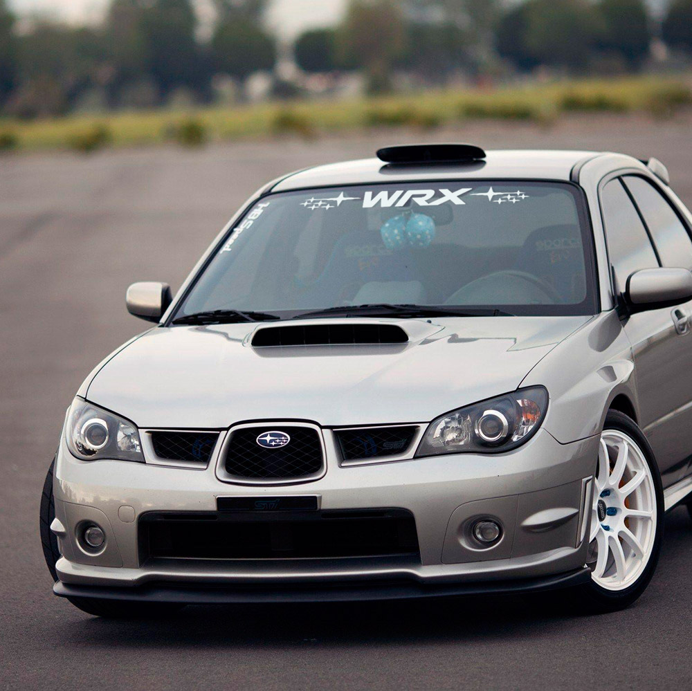 WRX  Stars Impreza Banner STI Wundshield Banner Stripe Rally Motorsport Racing JDM Car Vinyl Sticker Decal
